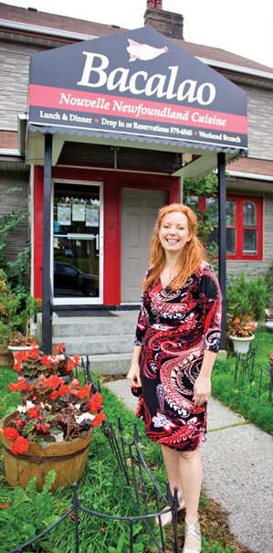 Andrea Maunder before her charming 'bungalow' restaurant