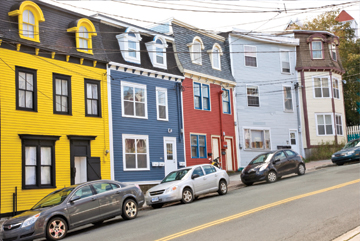 Jelly Bean row houses – colourful, bright and happy