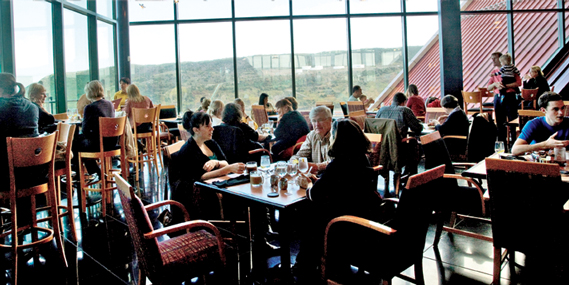 The restaurant at the top, apart from offering the most spectacular views of the city and harbour, serves some amazing fare
