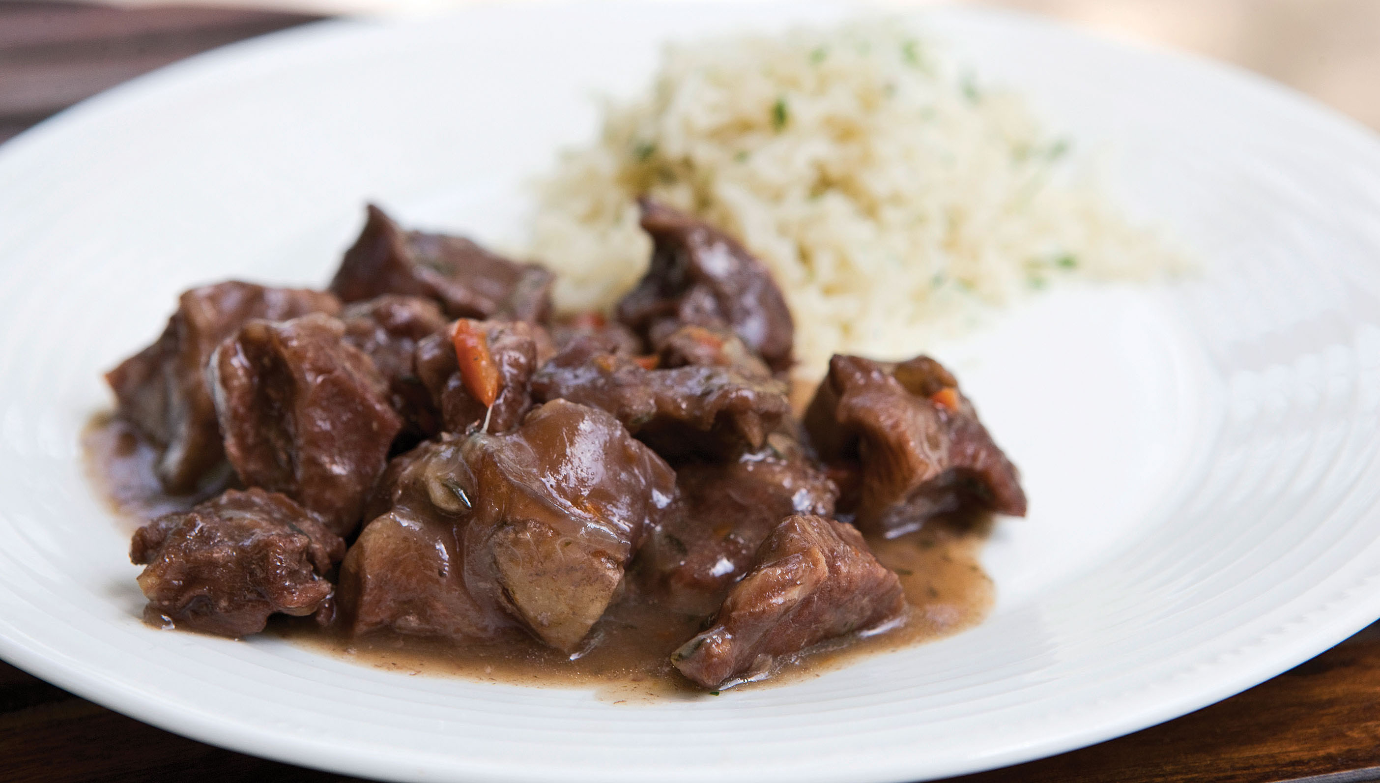 Red Wine Lamb with Thyme-scented Rice