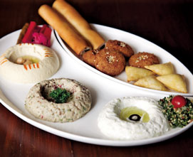 The mezze platter at S Lounge is proof of Lebanese food made popular
